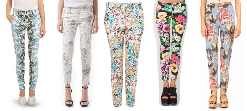Modne spodnie w kwiaty